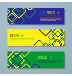 Set of Brazil concept color banners vector