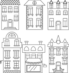 Set of house separated houses vector