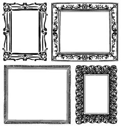 Set of wooden frames vector
