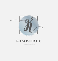simple elegant initial letter k logo type sign vector image