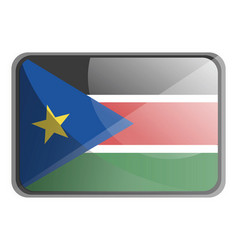 south sudan flag on white background vector image