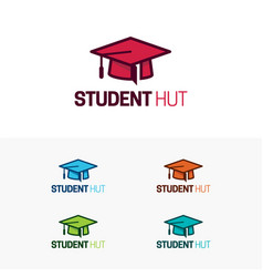 Student hut logo and icon vector