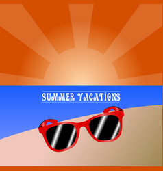 summer vacation vector image