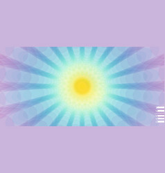 Sunburst abstract fractal background with focus vector