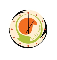 Sushi clock vector