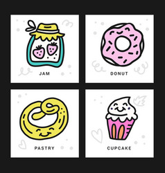 sweet desserts concept vector image
