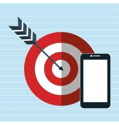 target smartphone icon vector image