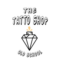tattoo shop diamond background image vector image