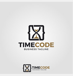 Time code logo template vector