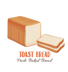 toast bread icon vector image