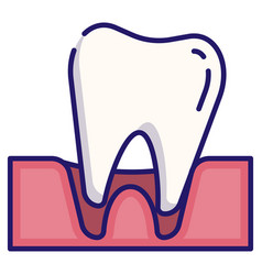 Tooth loose linecolor vector