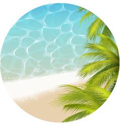 tropical paradizetheme vector image