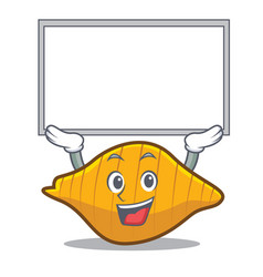 up board conchiglie pasta character cartoon vector image