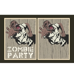 Zombie party invitation template vector