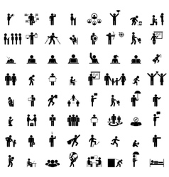 Business people life signs on white vector image vector image