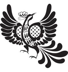 silhouette of bird vector image