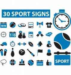sport signs vector image
