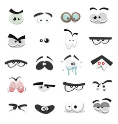 comic eyes set vector image