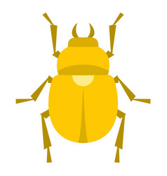 gold scarab beetle icon isolated vector image vector image