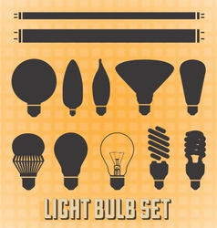 Light Bulb Silhouettes vector image vector image