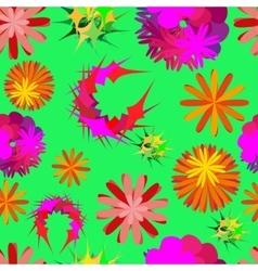 unusual flowers vector image vector image