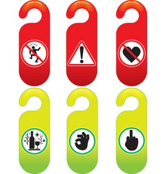 door signs vector image