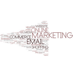 e-marketing word cloud concept vector image vector image