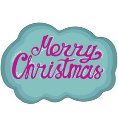 hand-drawn lettering for christmas doodle style vector image