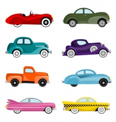 old cars vector image