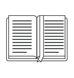 open book school learning library thin line vector image