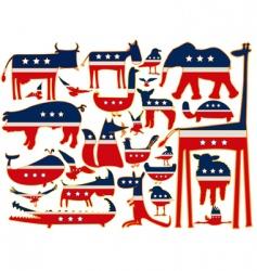 us animals vector image