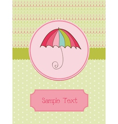 autumn umbrella card vector image