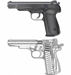 cross section of a gun vector image vector image