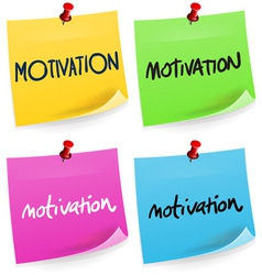 Motivation Sticky Note vector image vector image