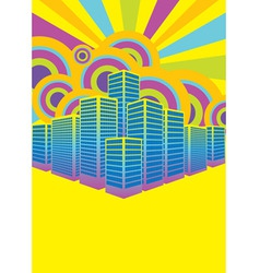 party in the city vector image vector image