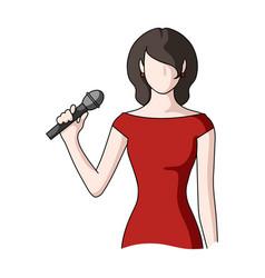 singerprofessions single icon in cartoon style vector image