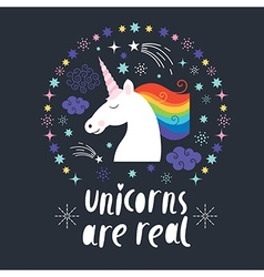 Unicorn are real vector image vector image