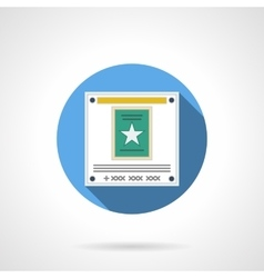 Web poster flat color round icon vector image