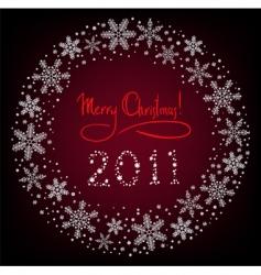 winter Christmas wreath vector image vector image