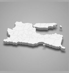 3d isometric map east java is a province vector