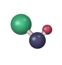 3d naoh molecule vector image
