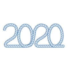 Abstract 2020 icon vector