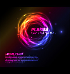 abstract background with colorful plasma ring vector image