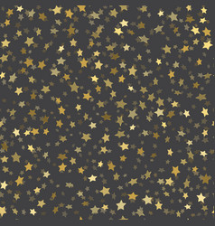 abstract black modern seamless pattern with gold vector image
