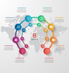 abstract circle infographic 08 options vector image