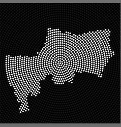 Abstract map bangkok radial dots halftone vector