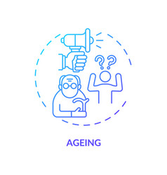 Ageing concept icon vector