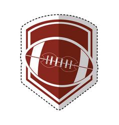 american football balloon emblem icon vector image