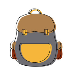 Backpack school equipment bag education vector