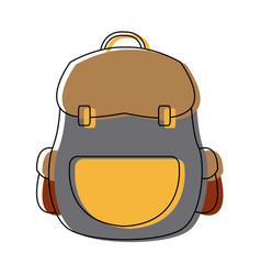 Backpack school equipment bag education vector